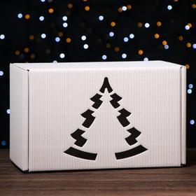 Подарочная коробка белая, сборная, 33,2 х 21,3 х 17,3 см Ош