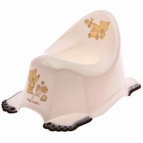 Горшок детский антискользящий «Мишки», цвет белый