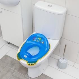 Детская накладка на унитаз «Аква» антискользящая, цвет голубой - фото 4655627
