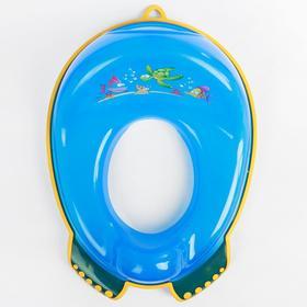 Детская накладка на унитаз «Аква» антискользящая, цвет голубой - фото 4655629
