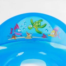 Детская накладка на унитаз «Аква» антискользящая, цвет голубой - фото 4655630