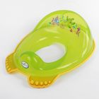 Детская накладка на унитаз «Аква» антискользящая, цвет зелёный