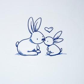 Детская накладка на унитаз «Кролики» антискользящая, цвет зелёный - фото 4655677
