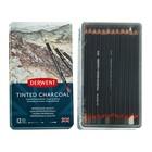 Уголь натуральный в карандаше Derwent Charcoal набор 12шт, мет.кор. 2301690