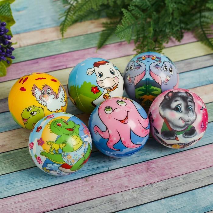 "Мягкий мяч ""Картинки животных"", цвета МИКС"