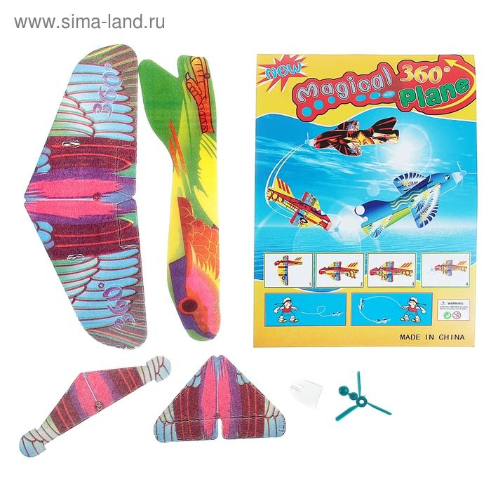 Самолет разные виды, 6 деталей, возвращается, цвета МИКС