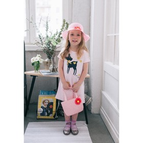 карнавальный набор шляпка+сумка с цветком цвет розовый р-р 50-52 2-5 лет