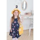 Карнавальный набор: шляпка с цветком и сумочка, цвет желтый, 50-52р-р 2-5 лет