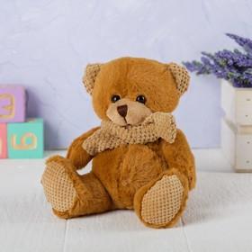 Мягкая игрушка «Мишка», в вязаном шарфике, цвета МИКС