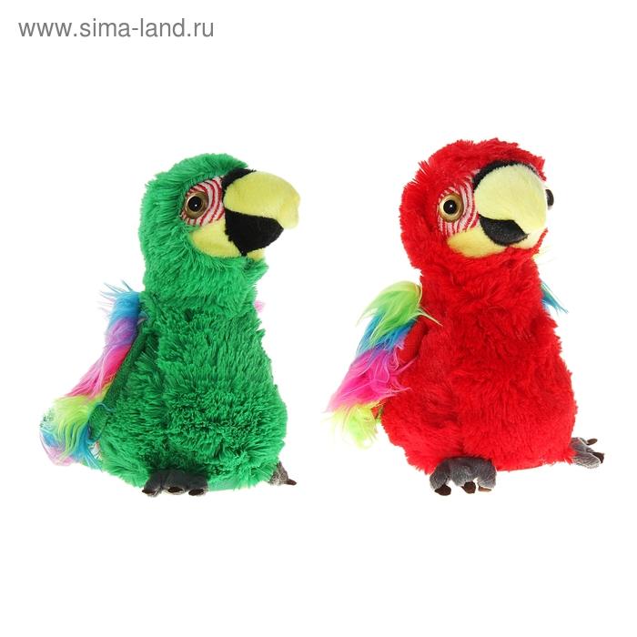 """Мягкая интерактивная игрушка-повторюшка """"Попугай"""", цвета МИКС"""
