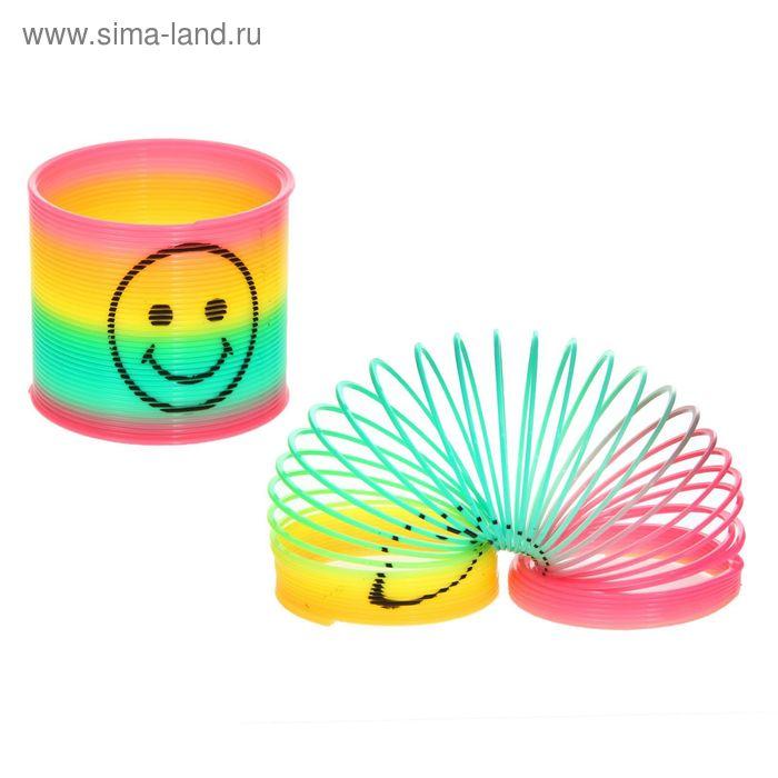 """Пружинка-радуга """"Весёлый смайлик"""", цвета МИКС"""