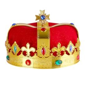 Корона «Король», цвет красный