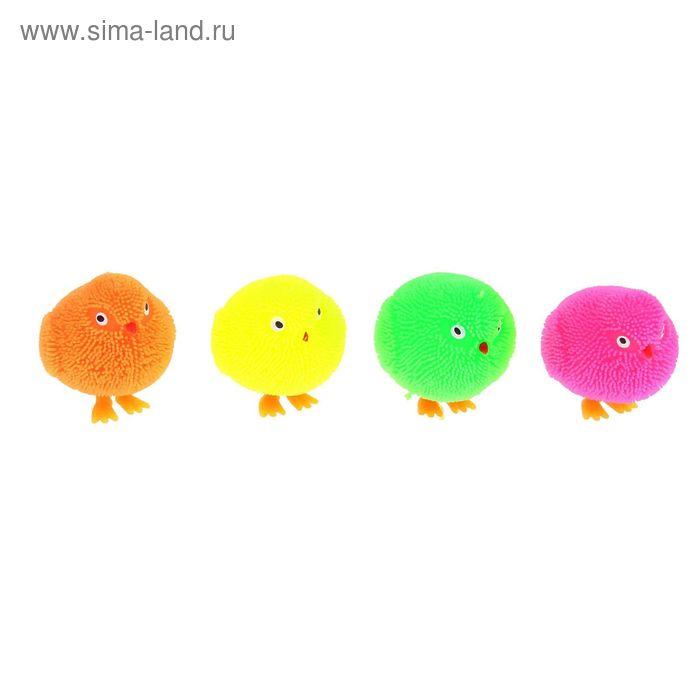 """Ёжка резиновый """"Птенчик"""", световой, цвета МИКС"""