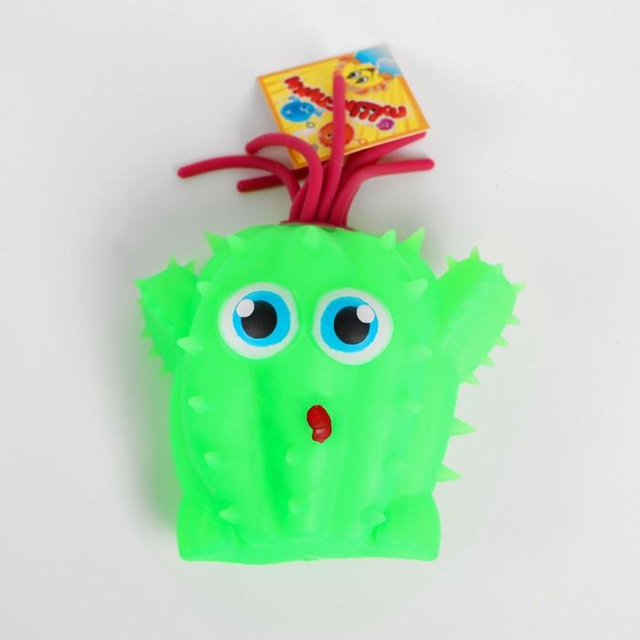 Ёжка резиновый «Кактус глазастик», световой, цвета МИКС