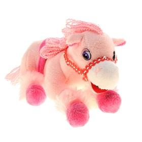 Мягкая музыкальная игрушка 'Лошадь' розовая, мордочка белая Ош