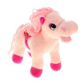 Мягкая игрушка 'Лошадь розовая', грива, хвост кудрявые Ош