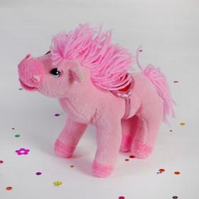 Мягкая игрушка 'Лошадь розовая', хвост, грива кудрявые Ош