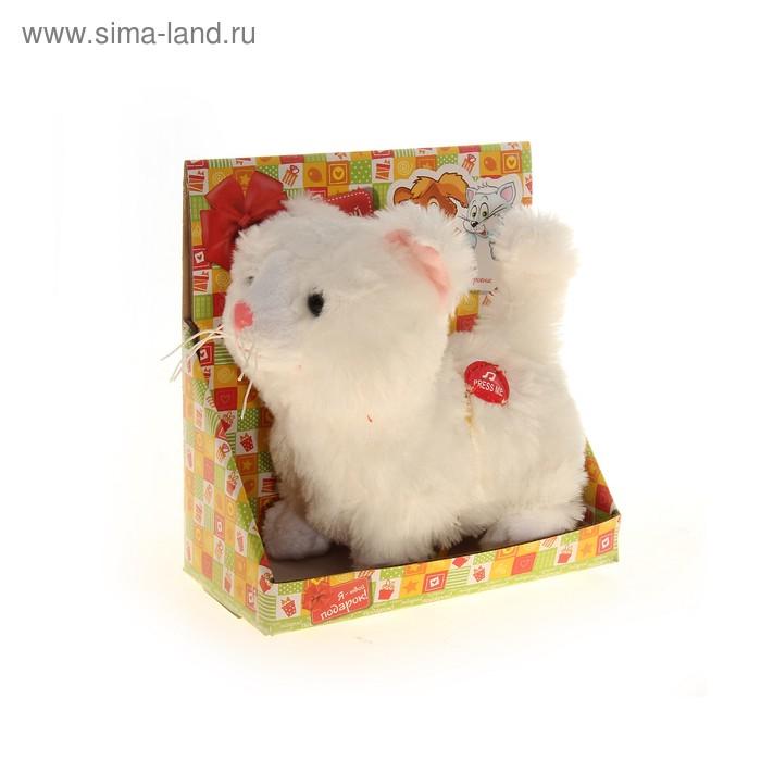 """Мягкая игрушка интерактивная """"Кошечка"""" белая, в коробке"""