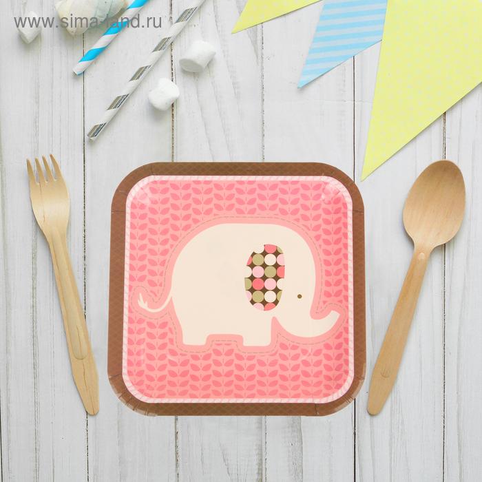 """Набор бумажных тарелок """"Слоник"""" (10 шт), 23 см, цвета МИКС"""