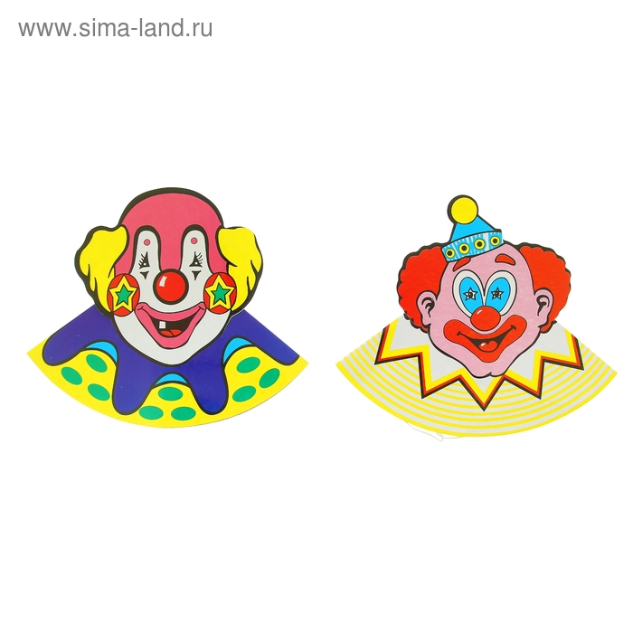 """Набор карнавальных колпаков """"Клоуны"""", 17 см (6 шт.)"""