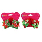 "Carnival clip ""Christmas gift"" with buttons, set of 2 PCs, MIX color"