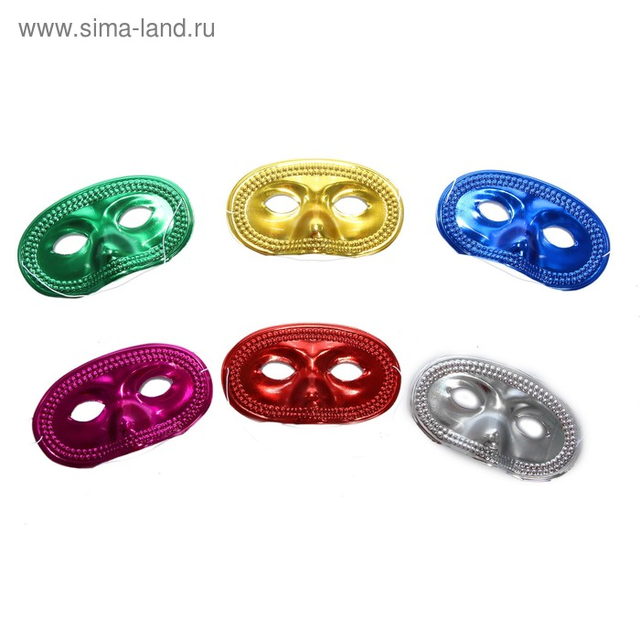 "Карнавальная маска ""Выпуклый нос"", набор 6 шт, цвета МИКС"