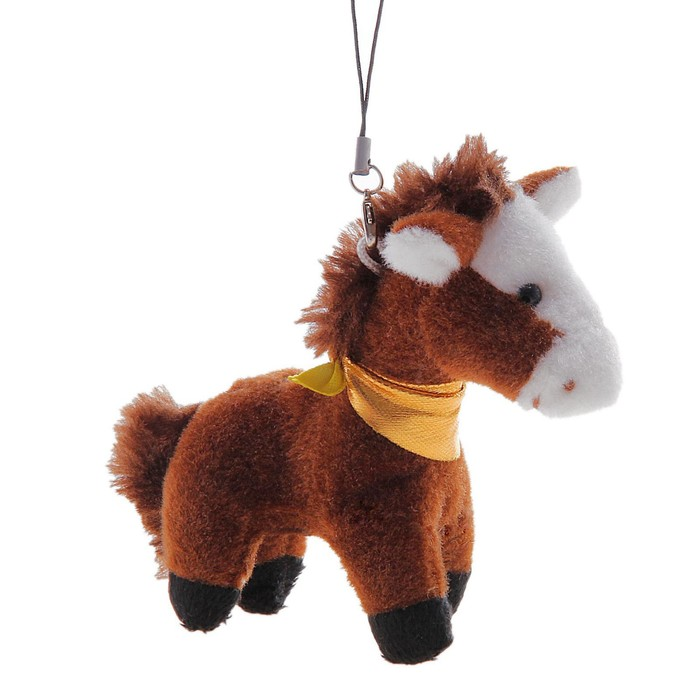 """Мягкая игрушка-подвеска """"Лошадь с платком на шее"""", цвета МИКС"""