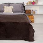 """Покрывало постельное """"Павлина""""  коричневый,150 х 200 см, аэрософт 190гр/м2,пэ100%"""