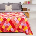 """Покрывало постельное """"Павлина""""  Мозаика красная,150 х 200 см аэрософт 190гр/м2, пэ100%"""