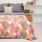 """Покрывало постельное """"Павлина""""  Мозаика розовая, 150 х 200 см  аэрософт 190гр/м2, пэ100%"""