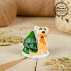 Сувенир ковровская глиняная игрушка «Собачка с ёлкой»