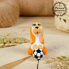 Сувенир ковровская глиняная игрушка «Собачка с мячом»