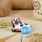 Подсвечник, ковровская глиняная игрушка «Собачка»