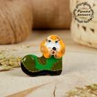 Магнит, ковровская глиняная игрушка «Собачка в башмаке», микс