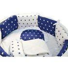 Комплект для прямоугольной кроватки «Северное сияние», 19 предметов, цвет синий