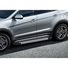 Пороги Silver Hyundai Santa Fe 2012-2016-, Al профиль 180 см, 2 шт. F180AL.2305.2
