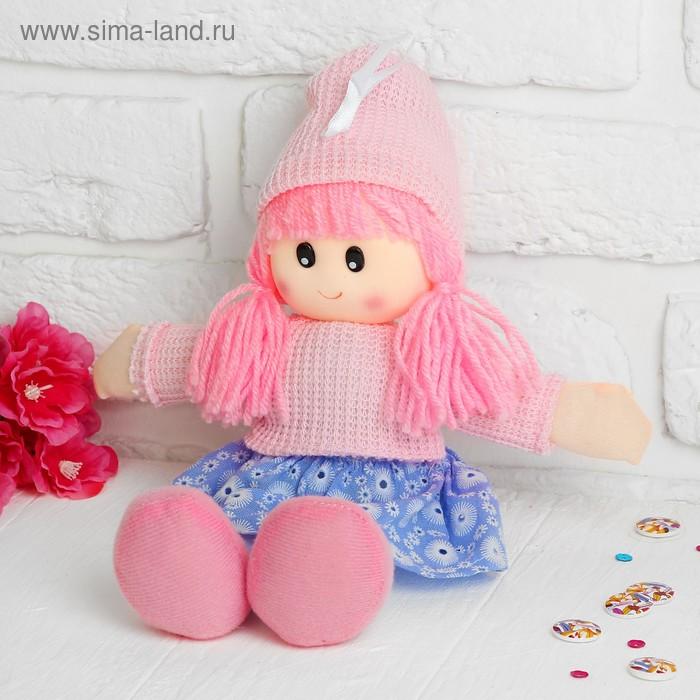 Мягкая игрушка кукла в шапке, цвет МИКС