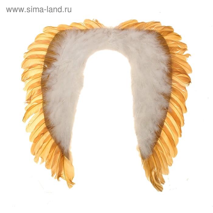 Карнавальные крылья ангела, цвет золотисто-белый