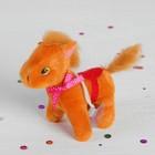 """Мягкая игрушка-присоска """"Лошадь с попоной"""", бантик на шее, цвета МИКС"""