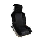 Накидка на полное сидение, плюш, искусственный мех, чёрный/чёрный