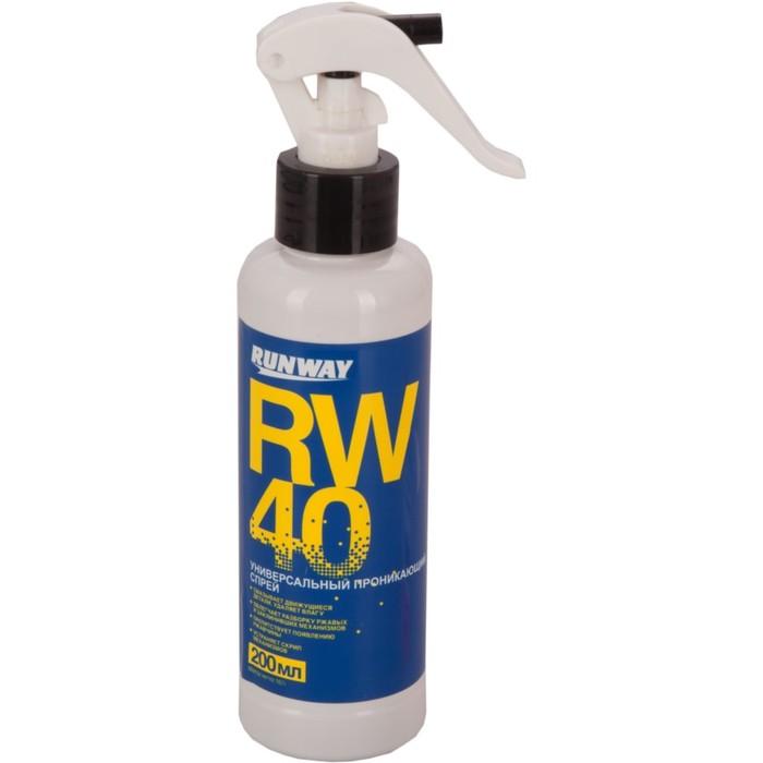 Универсальная проникающая смазка rw-40 200мл RunWay