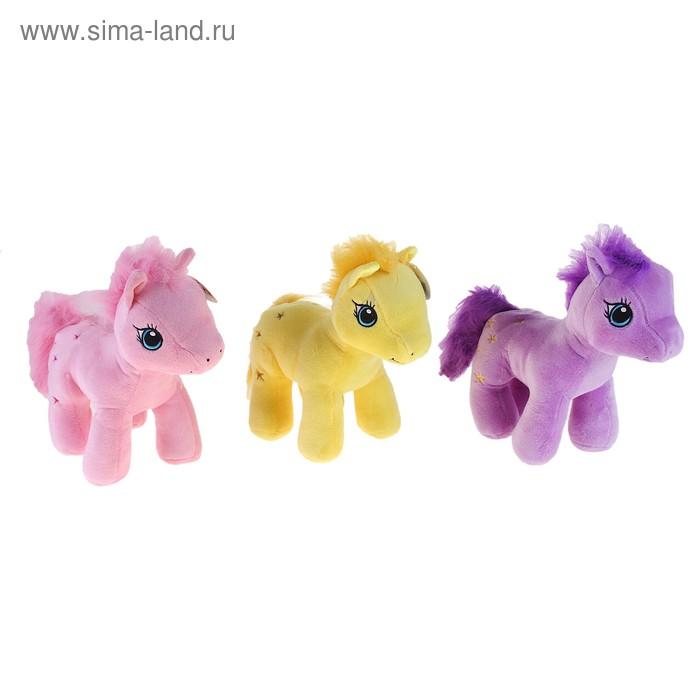 """Мягкая игрушка """"Лошадь"""" лохматая грива, цвета МИКС"""
