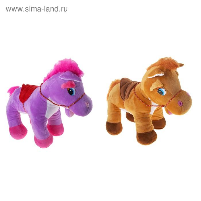 """Мягкая игрушка """"Лошадь с белой грудкой"""", цвета МИКС"""