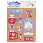 Чипборд вырубной для скрапбукинга «Снегопад сюрпризов и подарков», 11 × 16 см