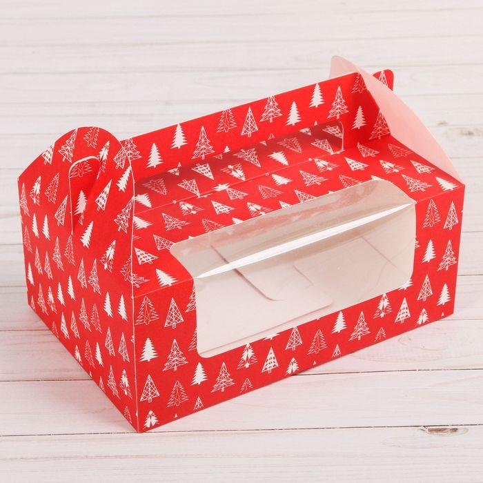 Коробочка для кексов «Яркая зима», 24 х 16 х 10 см