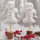 Набор для шитья: Фигурки на подставке «Снежные ангелочки», 10,7 х 16,3 х 5 см