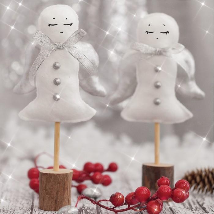 Фигурки на подставке «Снежные ангелочки», набор для шитья, 10,7 × 16,3 × 5 см