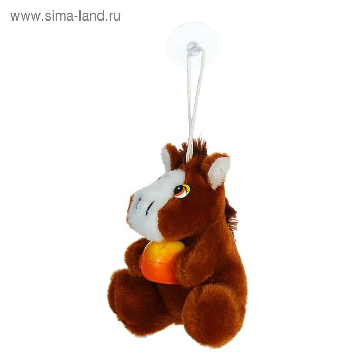 """Мягкая игрушка присоска """"Лошадь"""" с фруктами, цвета Микс"""