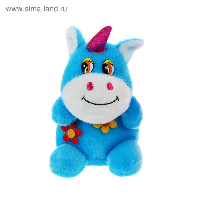 """Мягкая игрушка присоска """"Лошадь с цветком"""" сидит, цвета Микс"""