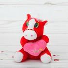 """Мягкая игрушка присоска """"Лошадь"""" с сердцем, цвета Микс"""